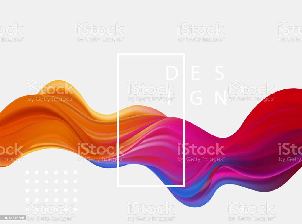 Abstract colorful vector background, color flow liquid wave for design brochure, website, flyer. - arte vettoriale royalty-free di Arancione