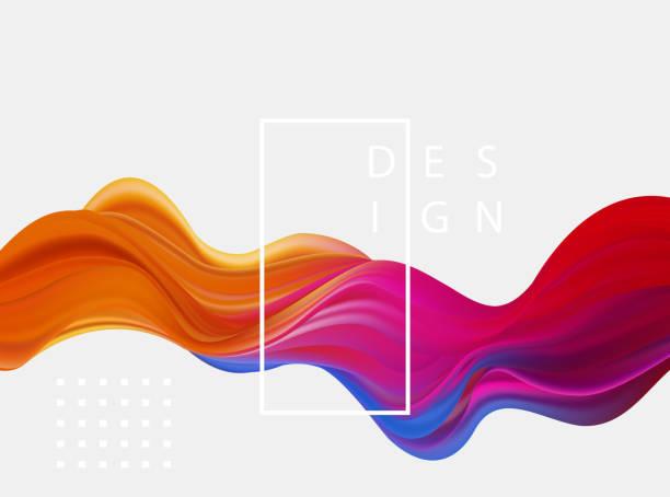 抽象多彩的向量背景, 色彩流暢的流波設計摺頁冊, 網站, 傳單。 - 圖畫 藝術品 幅插畫檔、美工圖案、卡通及圖標