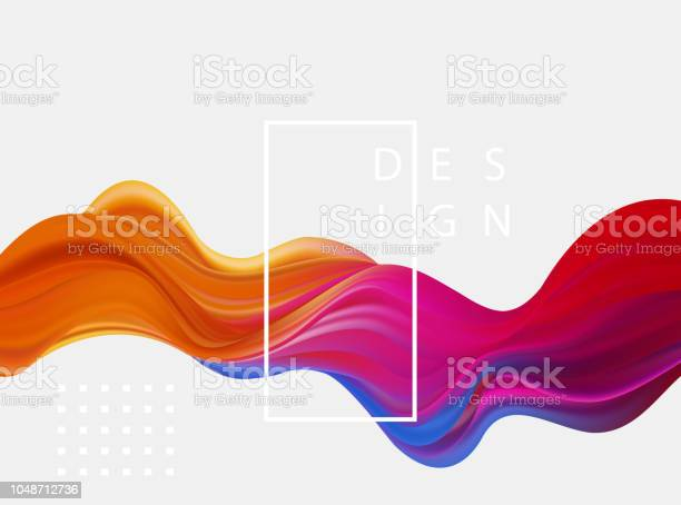 Vetores de Abstrato Colorido Vector Base Onda Líquida De Cor Fluxo Para Brochura De Projeto Site Panfleto e mais imagens de Abstrato