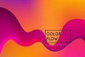 Abstract colorful vector background, color flow liquid wave for design brochure, website, flyer. Minimal design