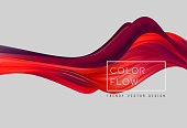Abstract colorful vector background, color flow liquid wave for design brochure, website, flyer. Stream fluid. Acrylic paint