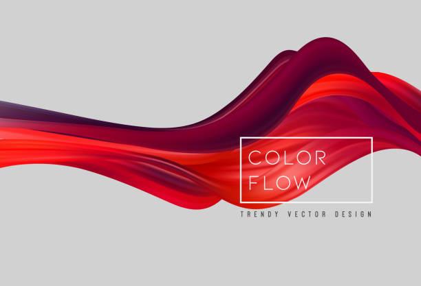 bildbanksillustrationer, clip art samt tecknat material och ikoner med abstrakt färgglada vektor bakgrund, färg flöde flytande våg för design broschyr, hem sida, flyer. - rinna