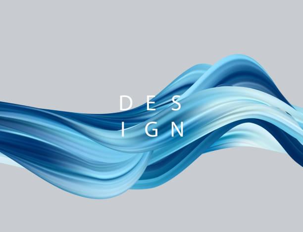 ilustrações, clipart, desenhos animados e ícones de abstrato colorido vector base, onda líquida de fluxo de cor - escorrer