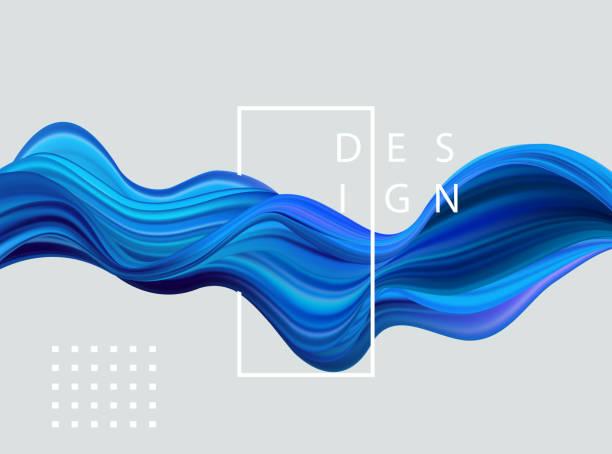 ilustrações, clipart, desenhos animados e ícones de abstrato colorido vector base, onda líquida de fluxo de cor - texturas de riscos