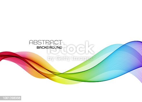 istock Abstract colorful vector background, color flow wave for design brochure, website, flyer. 1061268358