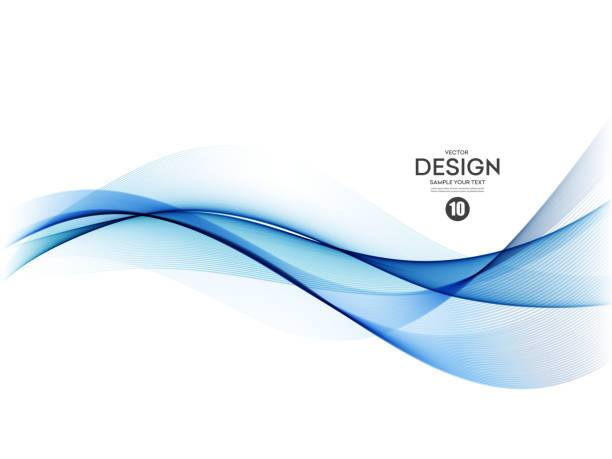 Abstract colorful vector background, color wave for design brochure, website, flyer. Abstract vector background, color flow waved lines for brochure, website, flyer design. Transparent smooth wave wave pattern stock illustrations