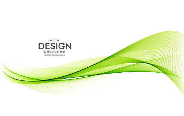 bildbanksillustrationer, clip art samt tecknat material och ikoner med abstrakt färgglada vektor bakgrund, färgvåg för design broschyr, hem sida, flyer. - grön färg