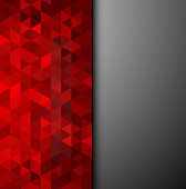 Abstract colorful vector background. Red triangles shape