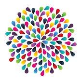 Abstract colorful vector bubbles
