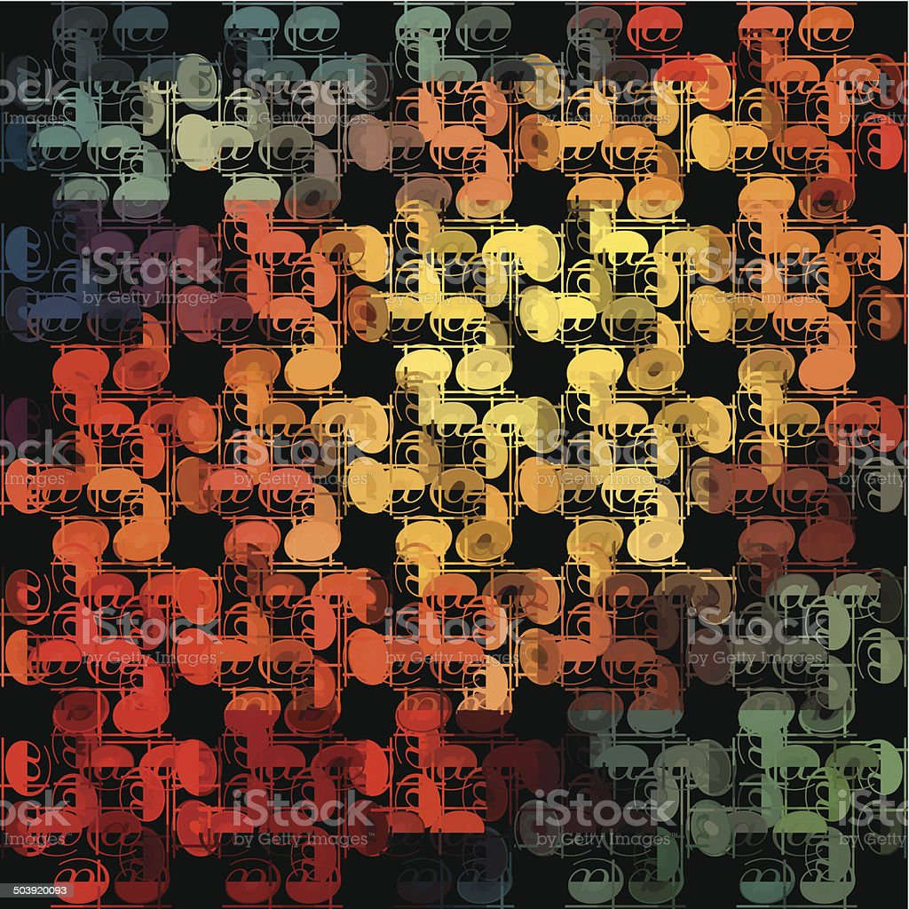 abstract colorful vector decoration pattern background royalty-free stock vector art