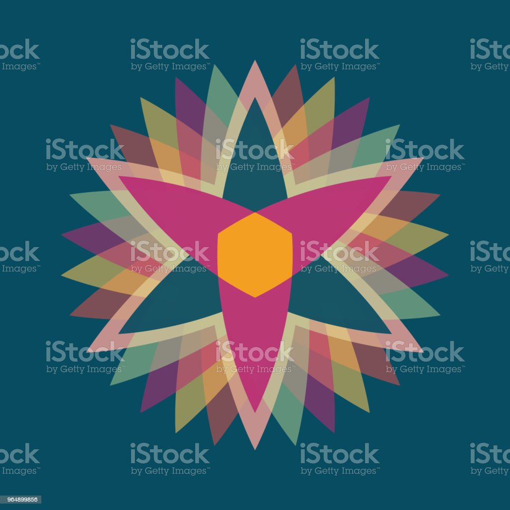 Abstract colorful vector flower logo royalty-free abstract colorful vector flower logo stock vector art & more images of abstract
