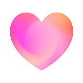 Abstract colorful vector heart