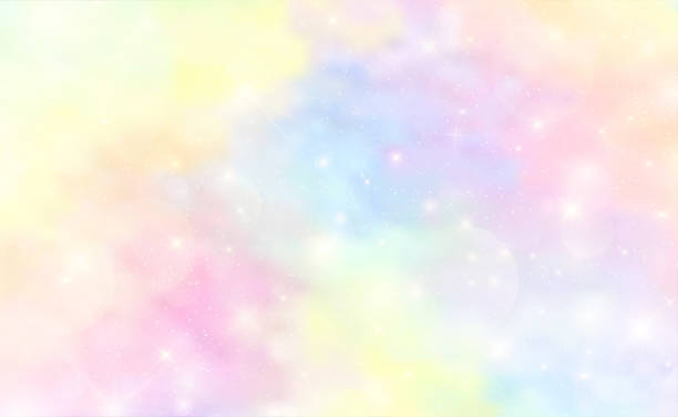 Abstract Colorful Watercolor background and pastel color.The unicorn in pastel sky with rainbow. Cute bright candy background. EPS 10 Abstract Colorful Watercolor background and pastel color.The unicorn in pastel sky with rainbow. Cute bright candy background. EPS 10 femininity stock illustrations