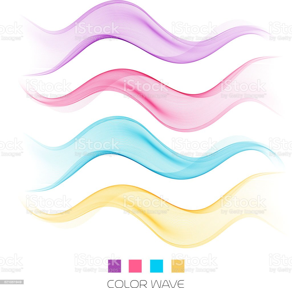 Abstract colorful wave design element vector art illustration
