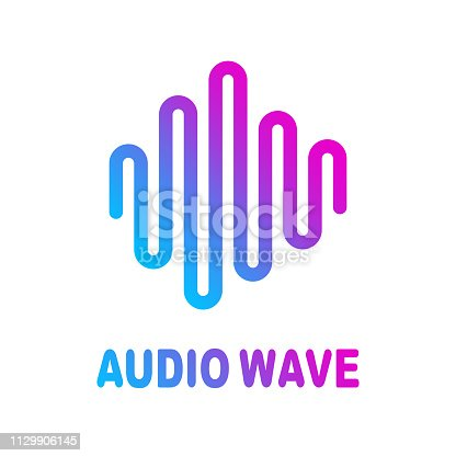 Abstract colorful wave lines flowing isolated on white background for vector design elements in concept of sound, music, technology, science.
