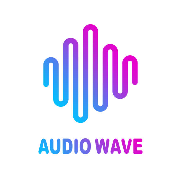 Abstract colorful wave lines flowing isolated on white background for vector design elements in concept of sound, music, technology, science. vector art illustration