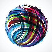 abstract colorful wave stripe ball pattern for design.(ai eps10 with transparency effect)