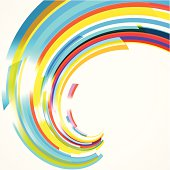 abstract colorful wave stripe pattern background
