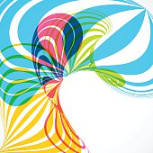 abstract colorful wave stripe pattern background for design.(ai eps10 with transparency effect)