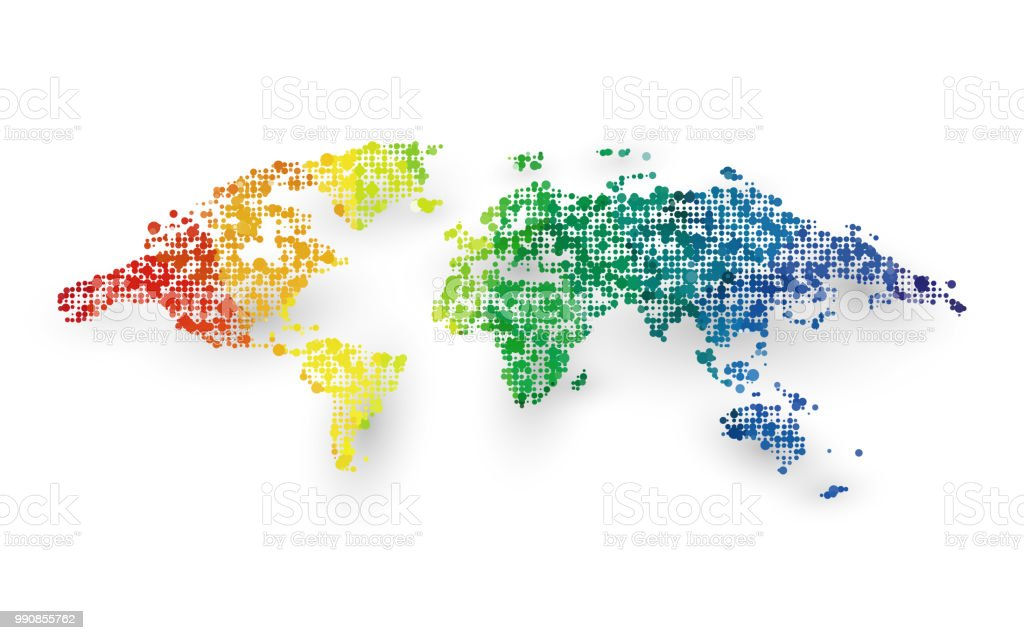 Abstract colorful world map dotted graphic design stock vector art abstract colorful world map dotted graphic design royalty free abstract colorful world map dotted graphic gumiabroncs Images