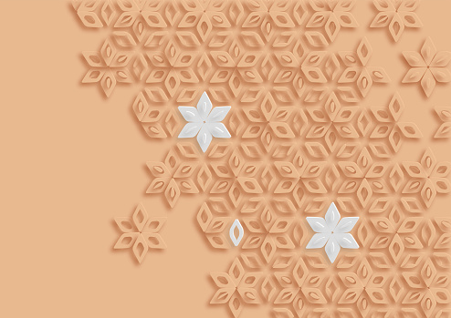 abstract colors papercutting style flower pattern background