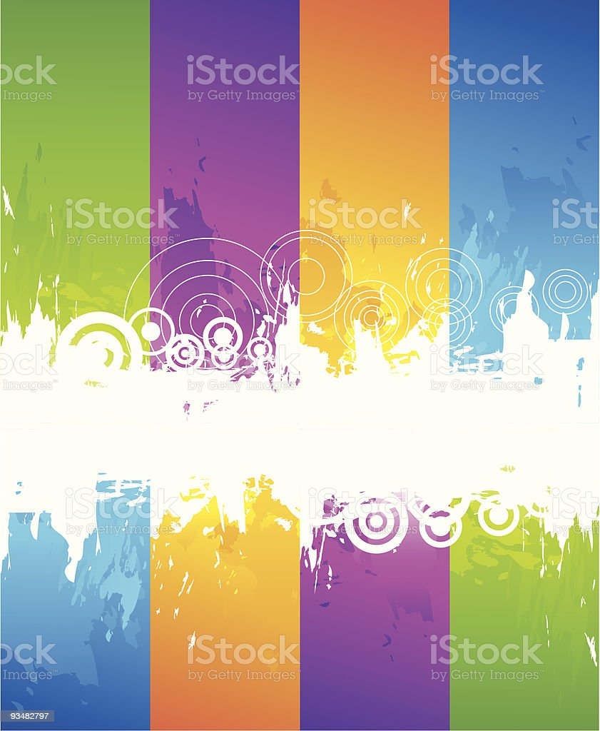 Abstract colourful grunge background royalty-free stock vector art