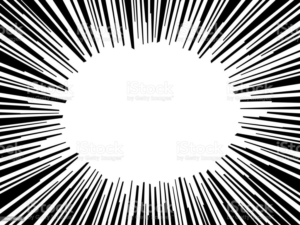 Abstract comic book flash explosion radial lines background. Vector illustration vector art illustration