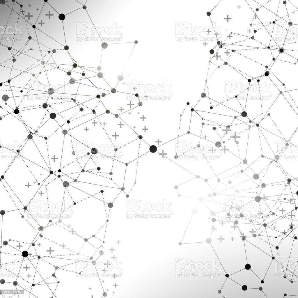 Abstract communication illustration vector art illustration