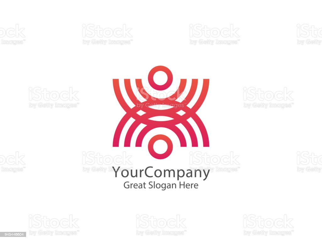 Abstract community circle people icon. united union design concept icon template vector illustration vector art illustration