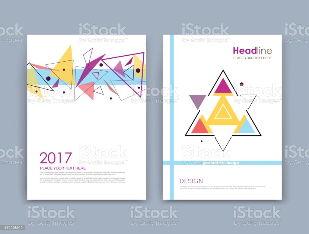 Abstract composition a4 brochure title sheet geometric shape abstract composition a4 brochure title sheet geometric shape flying triangle icon logo magicingreecefo Choice Image