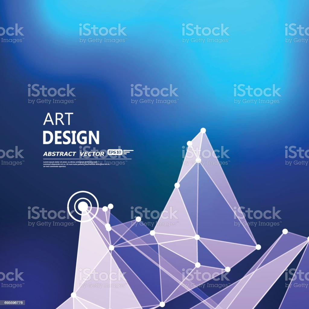 抽象的成分未來科技靛藍藍色字體紋理控制論白點創意橫幅圖壁紙外太空