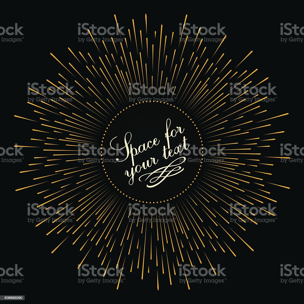 Abstract composition in the form of an explosion vector art illustration