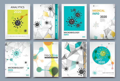 Abstract composition. Math science text frame surface. A4 brochure cover design. Title sheet model set. Patch geometric shapes icon. Modern vector front page. COVID-19 virus. Polygonal texture.