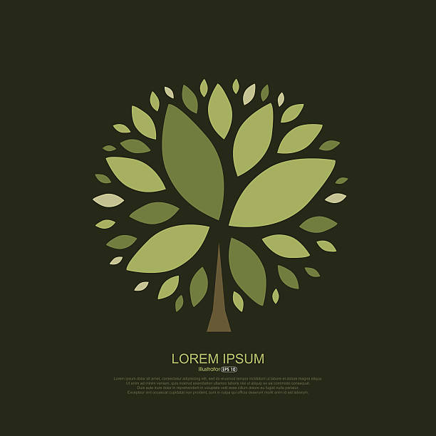 Abstract composition of tree leaves Abstract composition of tree leaves origins stock illustrations