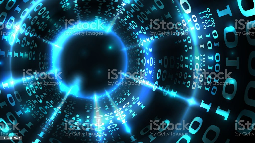 Abstract computer data background programming binary code, data...