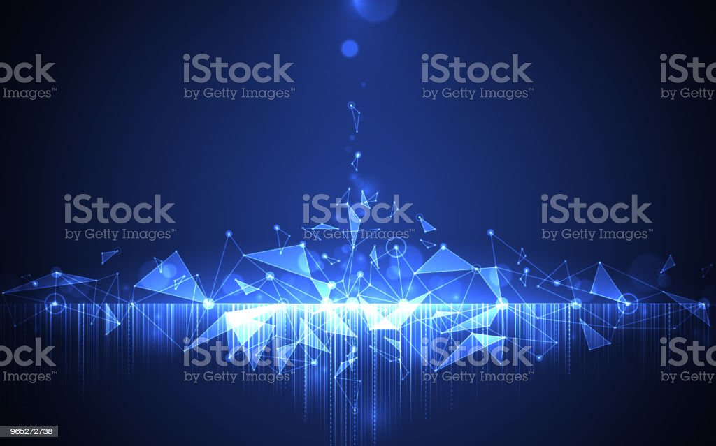 Abstract computer network connection digital technology concept. royalty-free abstract computer network connection digital technology concept stock illustration - download image now