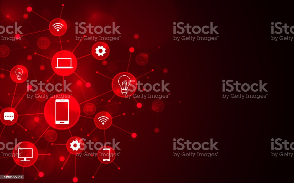 Abstract computer network connection icons digital technology concept. royalty-free abstract computer network connection icons digital technology concept stock vector art & more images of abstract