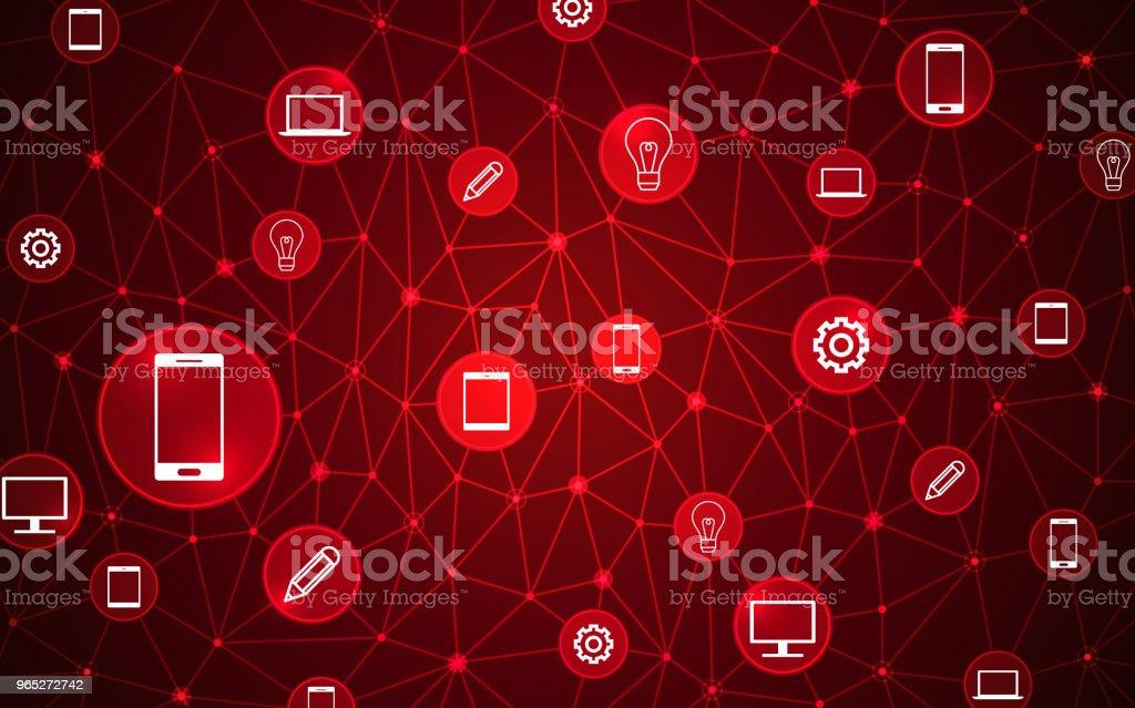 Abstract computer network connection icons digital technology concept. abstract computer network connection icons digital technology concept - stockowe grafiki wektorowe i więcej obrazów abstrakcja royalty-free