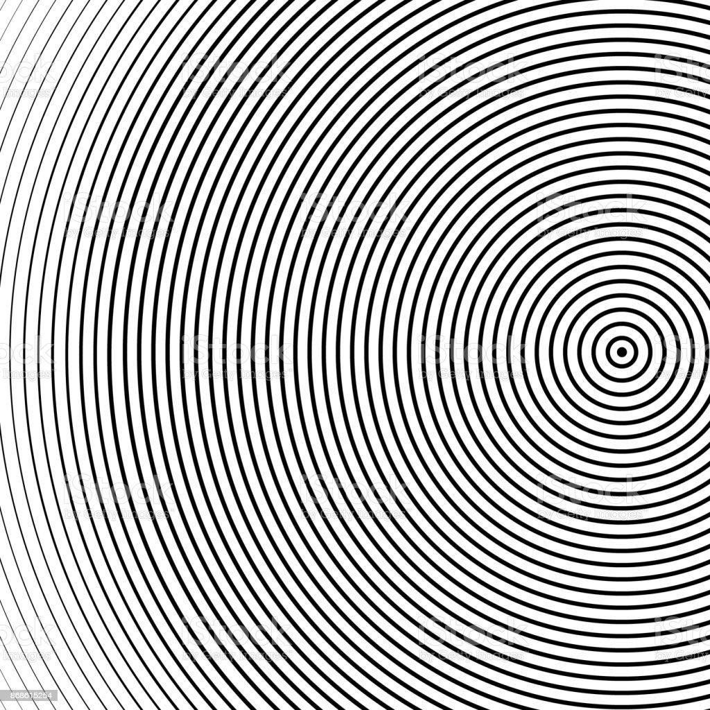 抽象的な同心円状の円テクスチャ...