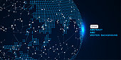 3D abstract concept earth, internet and blockchain concept, the significance of internationalization and globalization