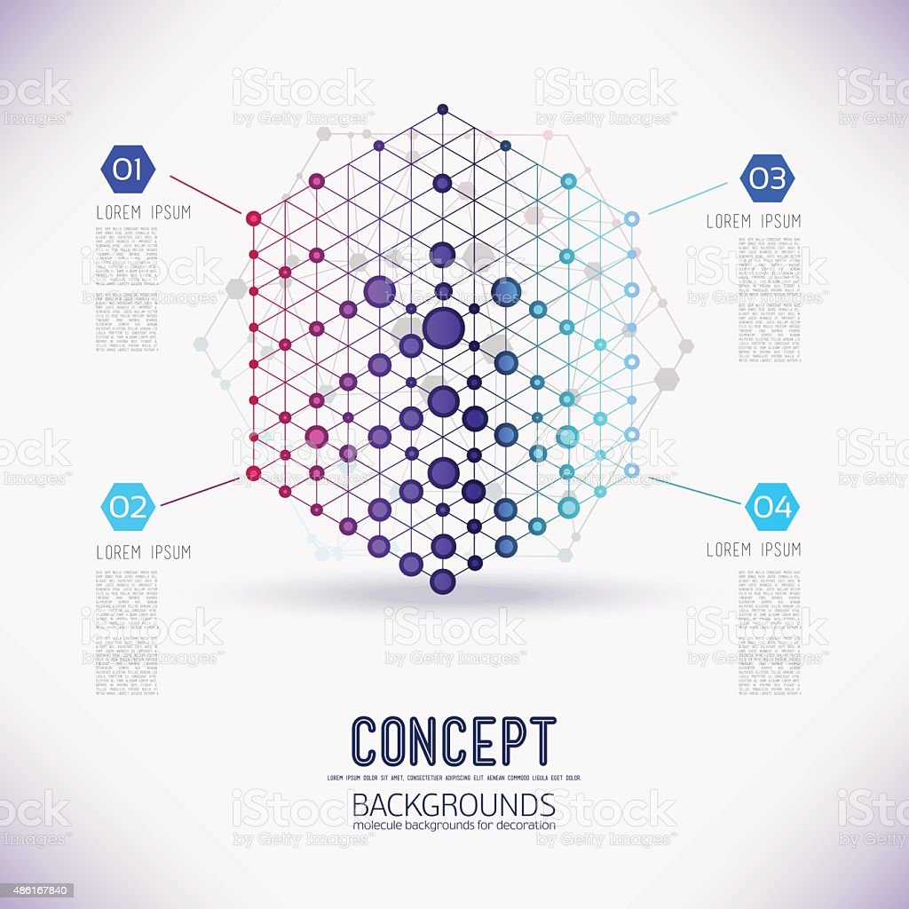 Abstract concept geometric lattice, vector art illustration