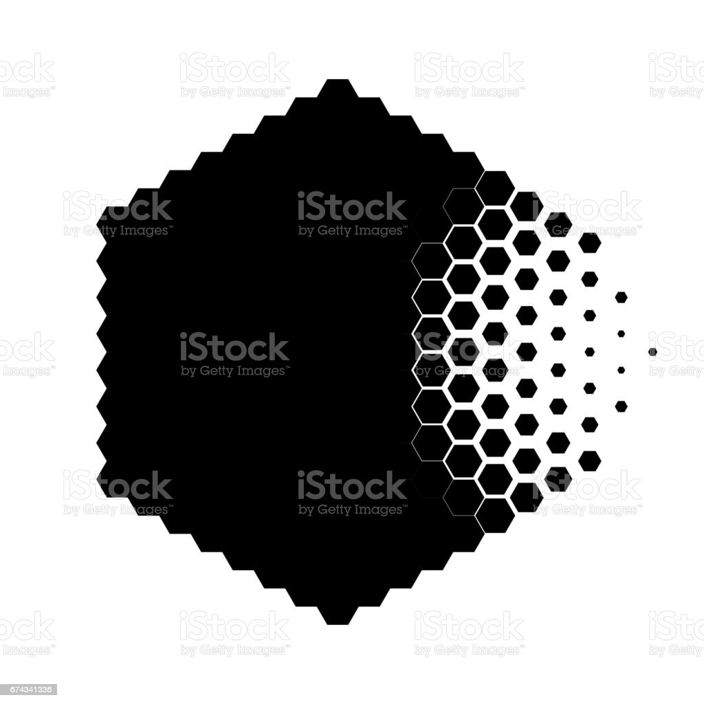 Abstract concept of destroying particle vector art illustration