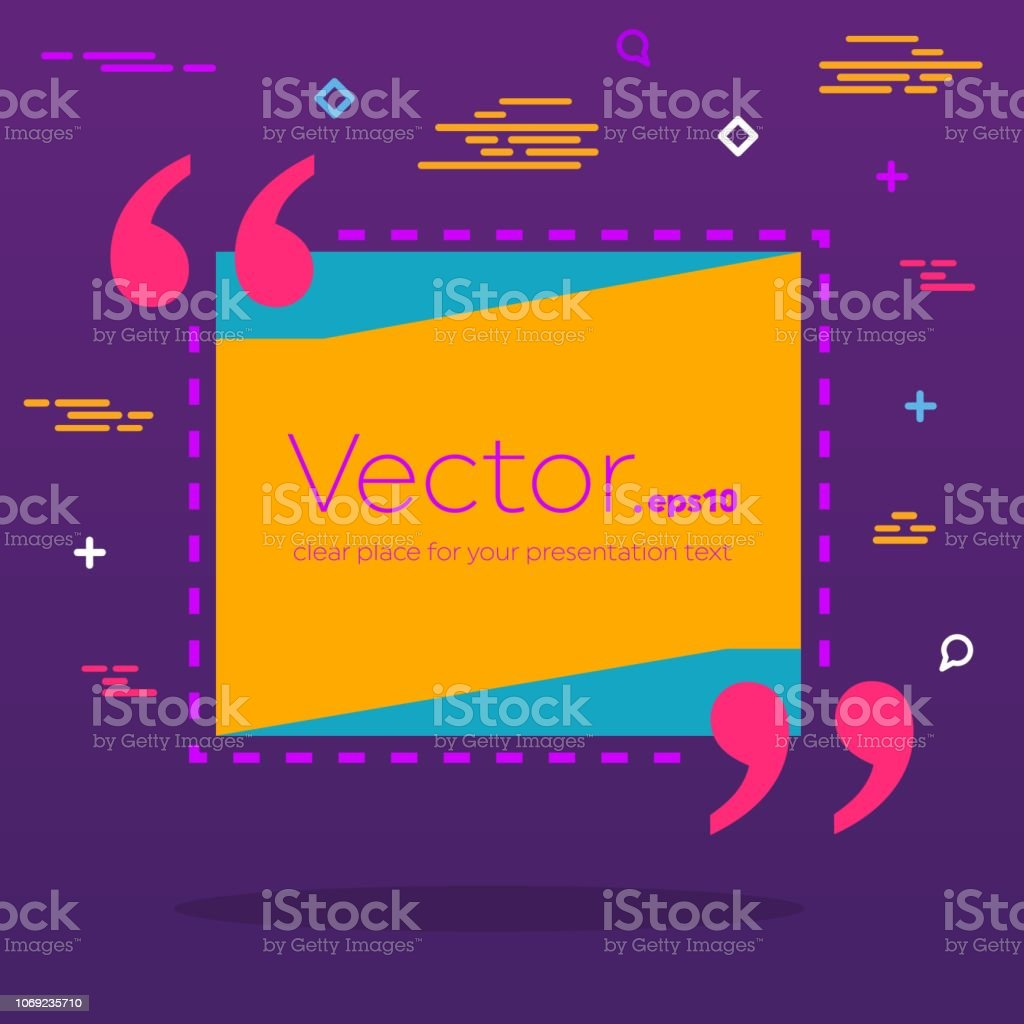 Abstract Concept Vector Empty Speech Square Quote Text