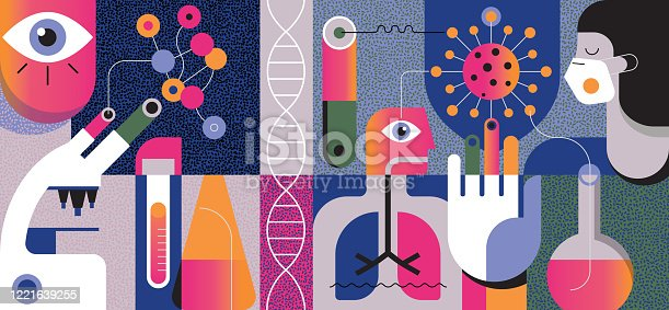 istock COVID-19 Abstract Concept 1221639255