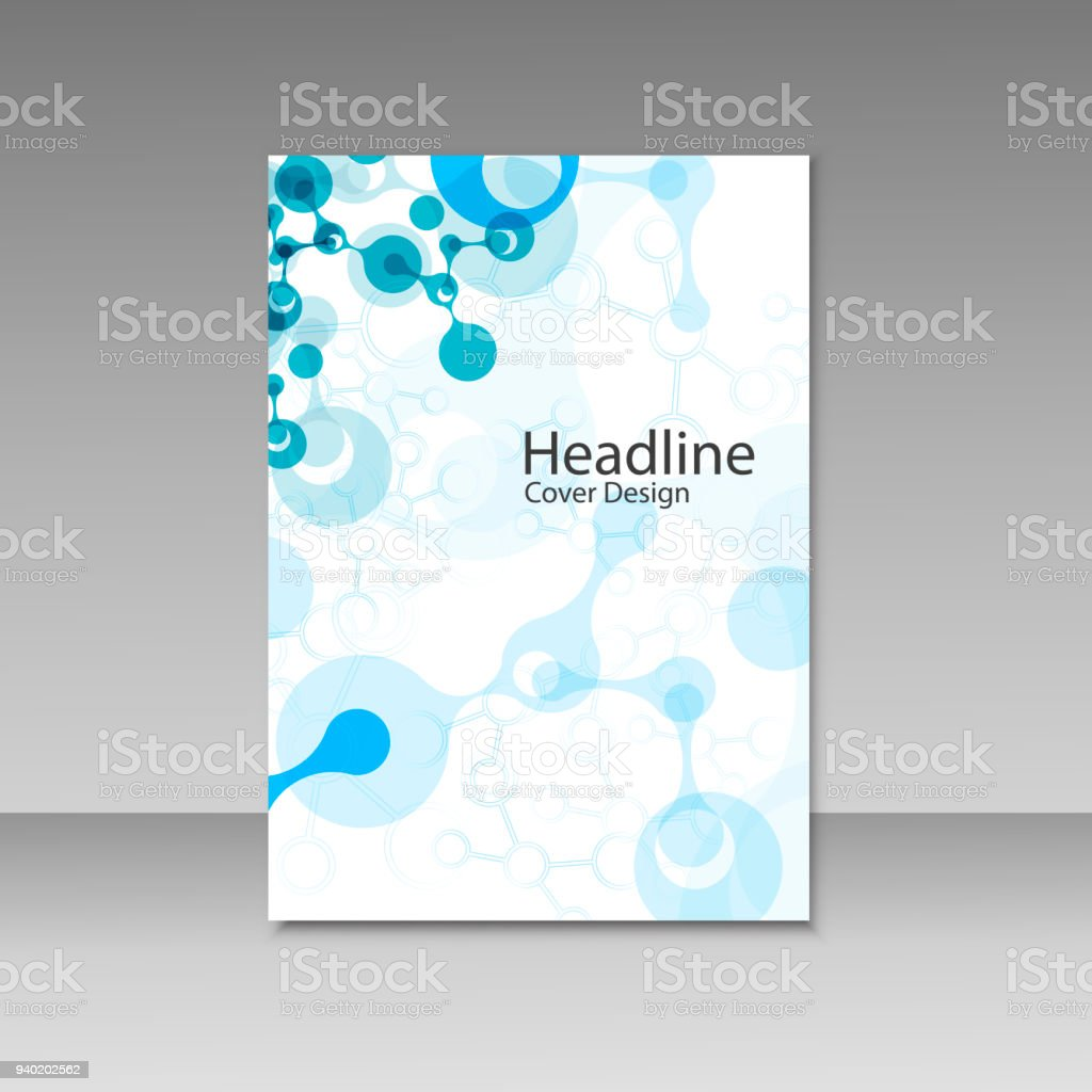 Abstract Connecting Composition For Annual Report Brochure Template