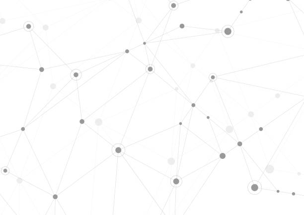 illustrazioni stock, clip art, cartoni animati e icone di tendenza di abstract connection background with lines and dots vector. geometric network connection - networking