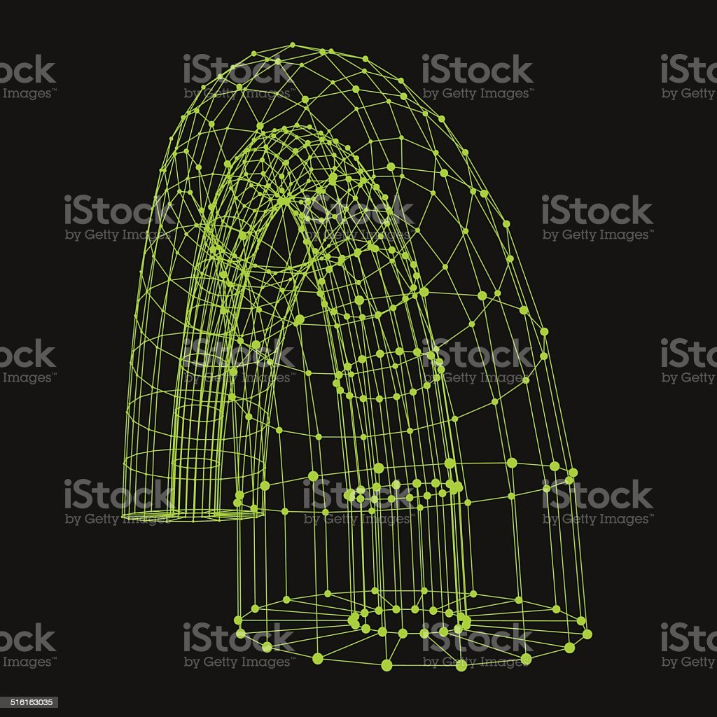 Abstract connection points and lines. Graphic design. vector art illustration