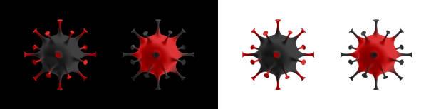 Abstract coronavirus strain model. Pandemic medical concept vector art illustration