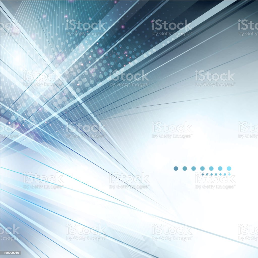 Abstract corporate background with silver and blue lines royalty-free stock vector art