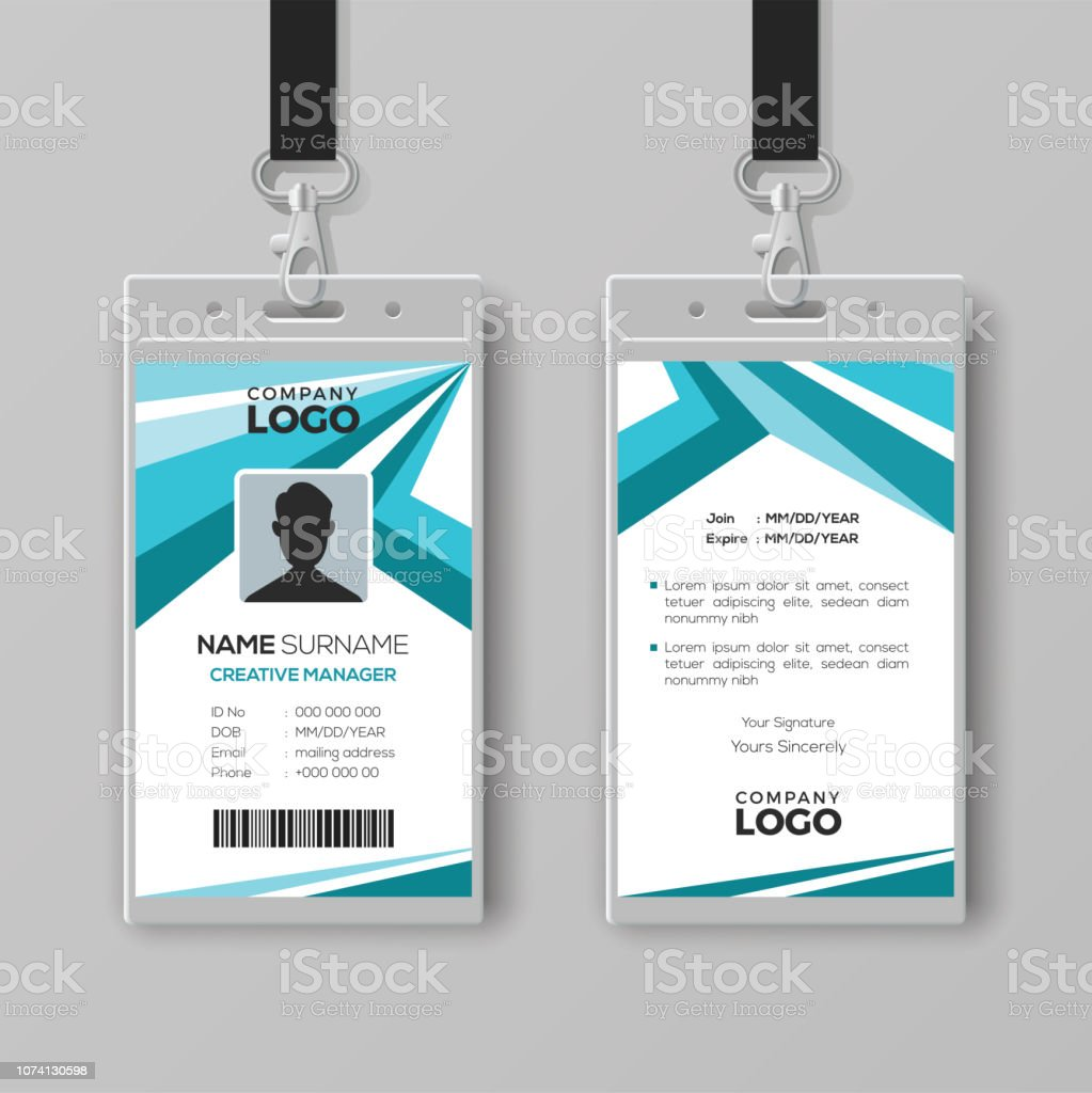 Abstract Corporate Id Card Design Template Stock Illustration With Regard To Company Id Card Design Template